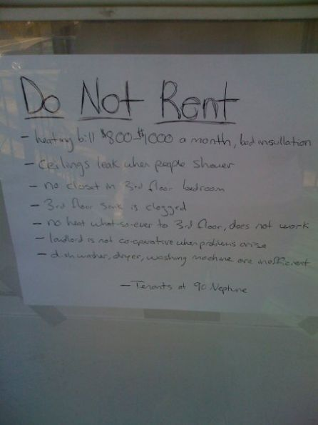 I guess after I saw this sign I am not going to rent an apartment here Picture