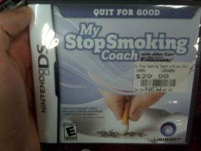 Do people really try to quit smoking using their DS? Picture