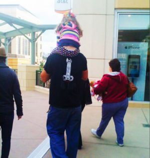 Saw this at the mall, worst father of the year award goes to.. Picture